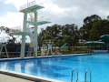 Diving board at Lambton Swimming Centre in Newcastle western suburbs