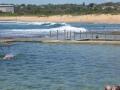 Mona Vale Beach behind Mona Vale Rock Pool