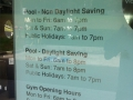 Opening times for Victoria Park Pool in central Sydney