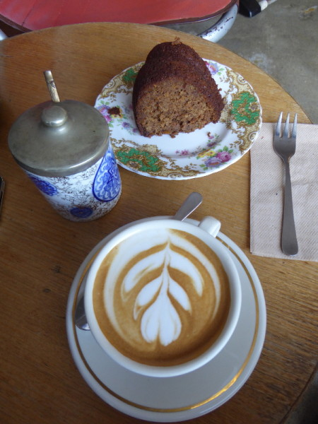 Coffee and cake at All & Sundry in Woonona