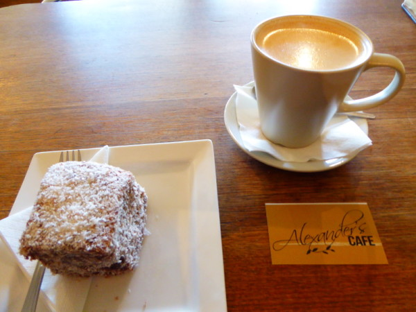 Coffee and cake in Dapto at Alexander's Café