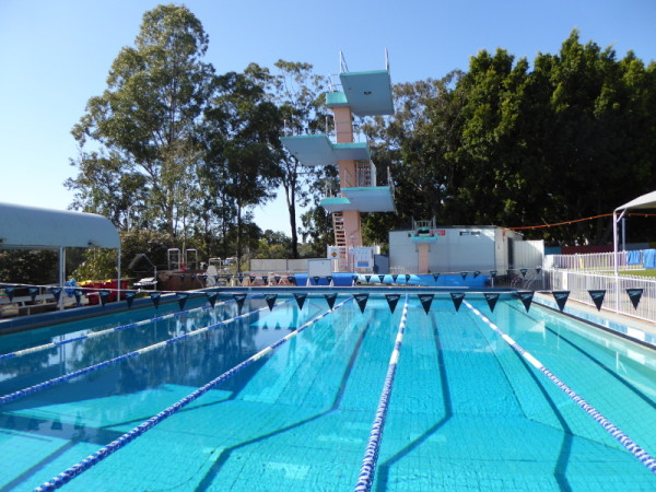 Diving boards at Leichhardt Pool