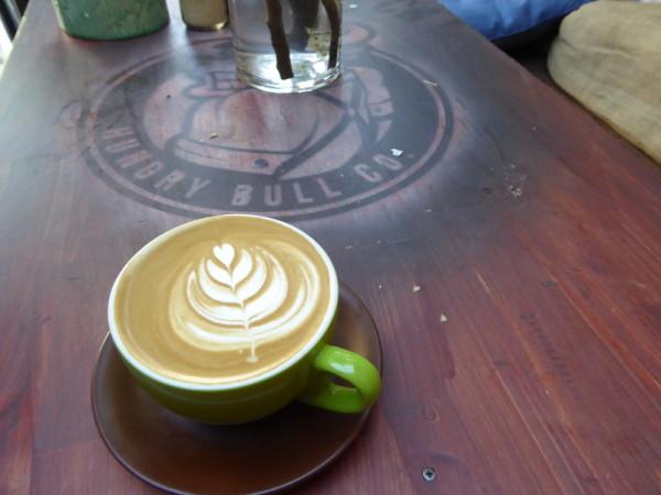 Coffee in Balmain at Hungry Bull Co