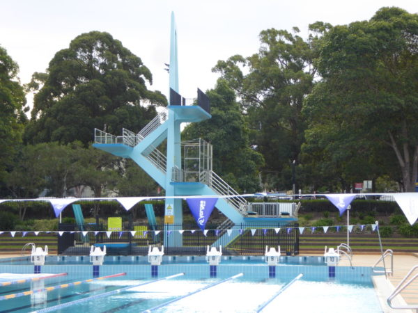 Parramatta Pool with diving board