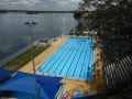 Drummoyne Olympic Pool from the bridge