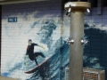 Murals on the toilets at Macmasters Beach
