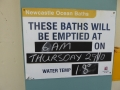 Cleaning and water temperature at Newcastle Ocean Baths