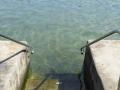 Steps in to Pearl Beach Rock Pool