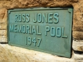 Memorial plaque for Ross Jones Memorial Pool in Coogee