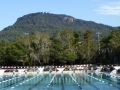 Mount Keira behind University of Wollongong Aquatic Centre
