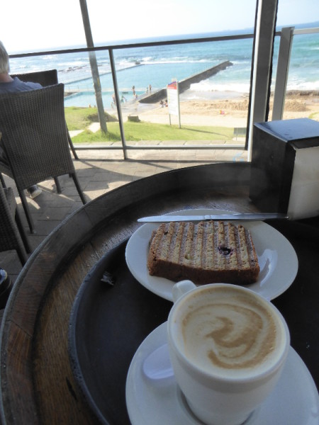 Coffee with a view at Bulli Beach Café