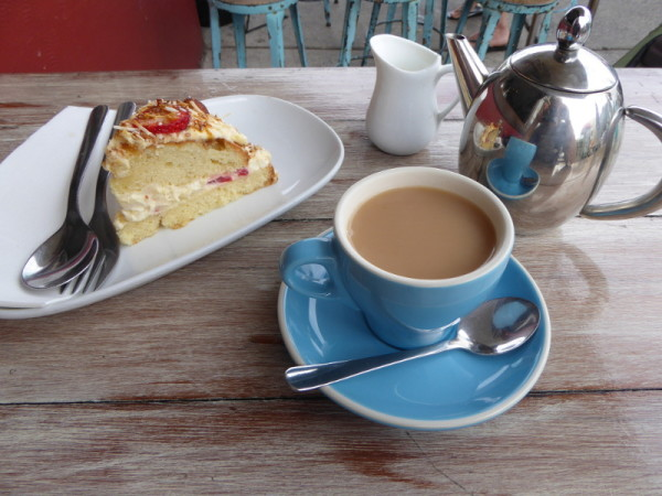 Cake & tea in North Bondi at Depot