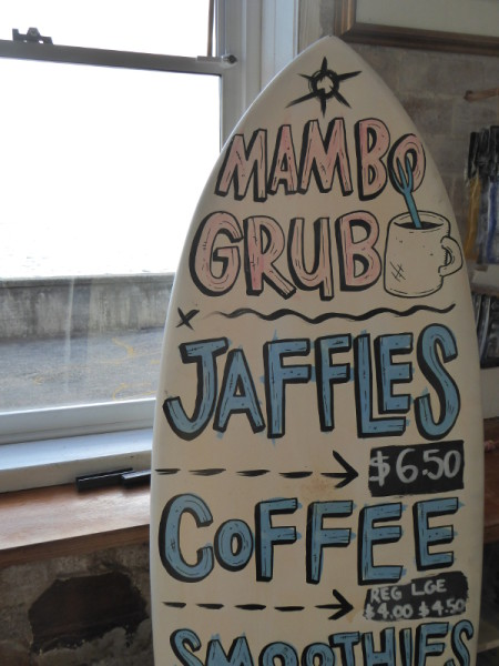 Mambo Coffee shop near Fairy Bower pool