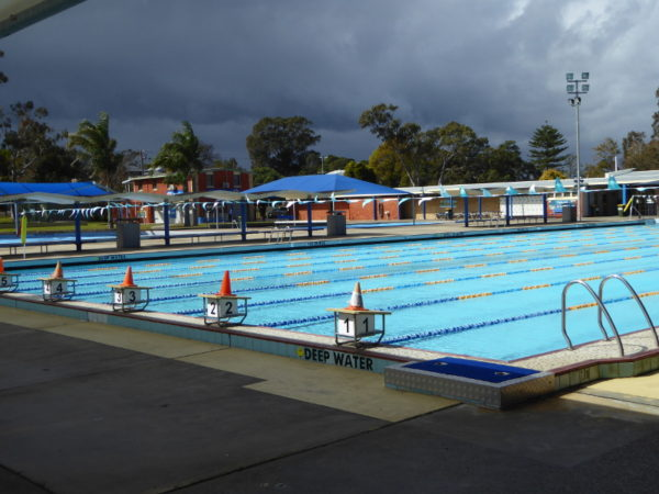 Lambton outdoor pool near Newcastle